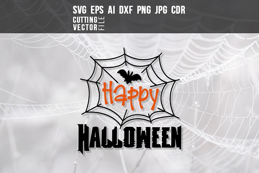 Happy Halloween Svg Eps Ai Cdr Dxf Png Jpg By Craftartshop Thehungryjpeg Com