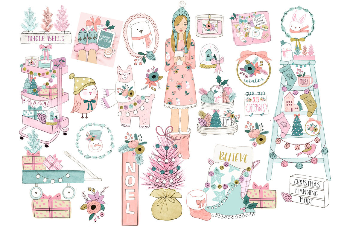 Winter Clipart By Rosabebegraphics Thehungryjpeg Com