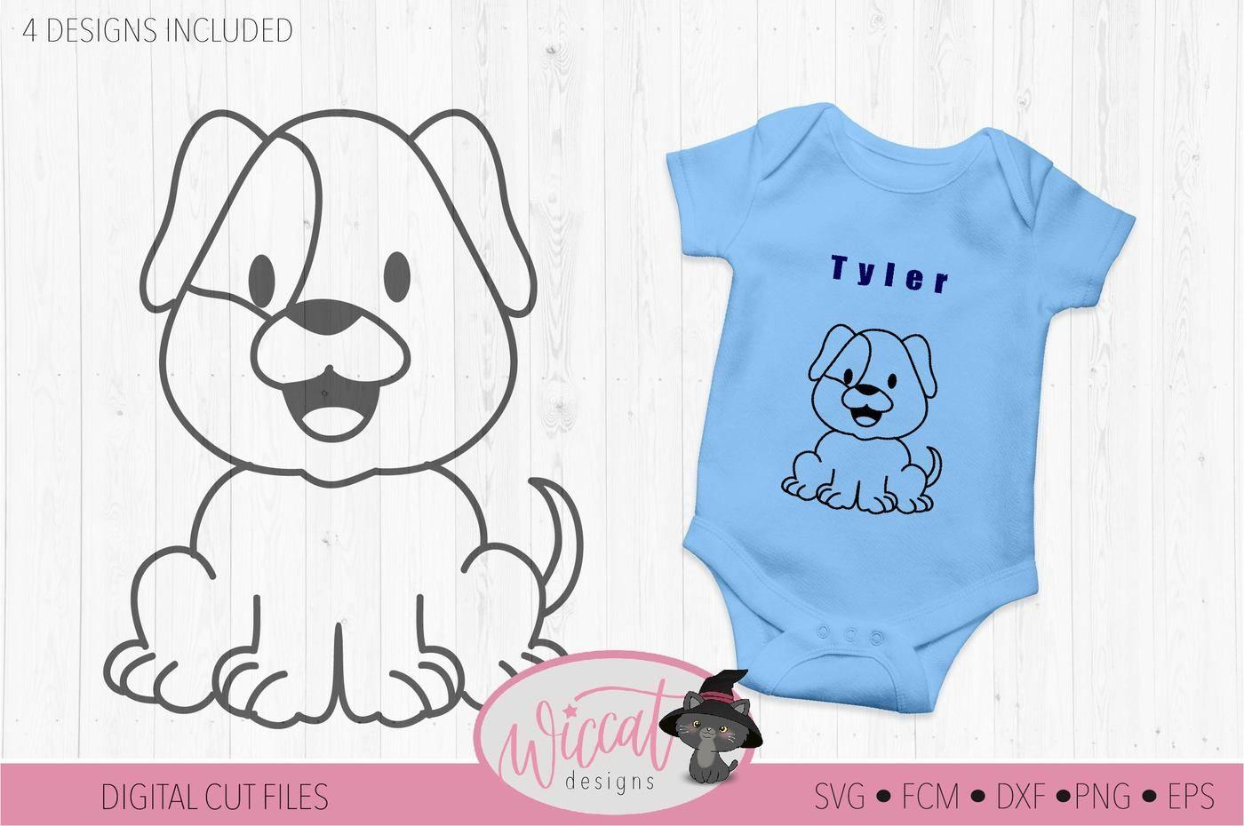 Baby Animal Bundle Coloring Svg Dog Svg Cat Svg Elephant Svg