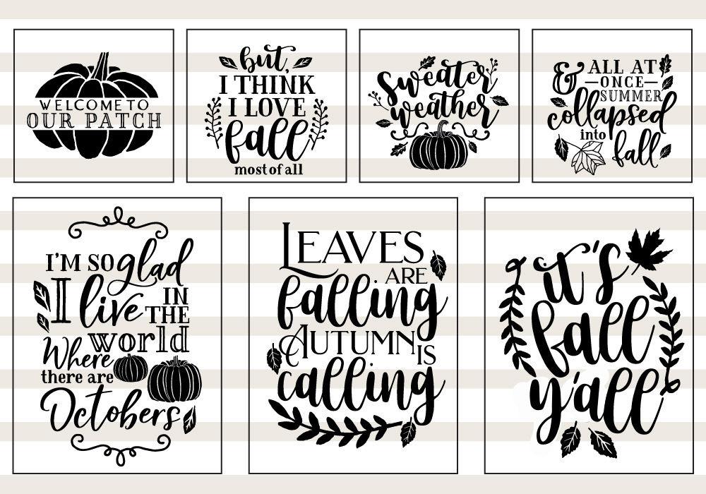 Pumpkin Fall Quote Svg Cut File Bundle By Caluya Design