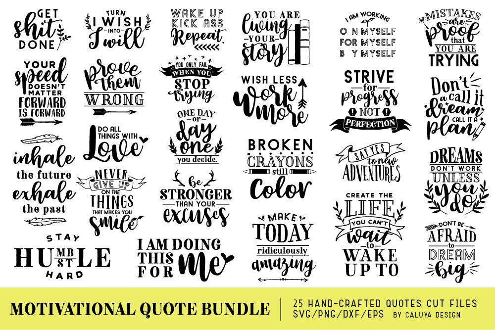 motivational quote bundle by caluya design com