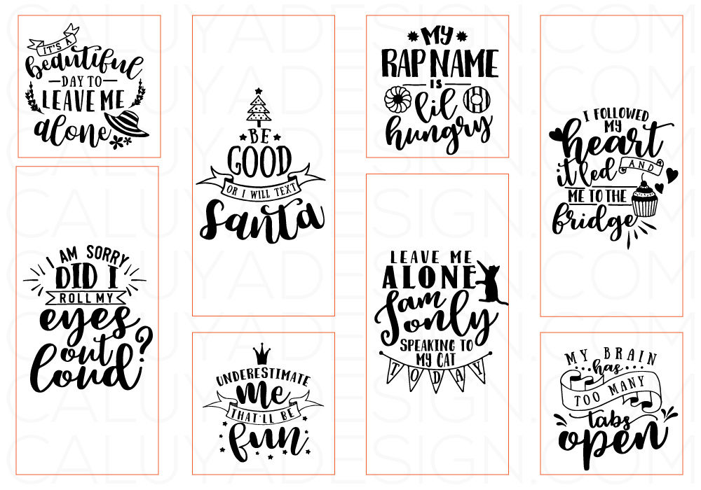 Funny Quotes SVG Cut File Bundle By Caluya Design ...