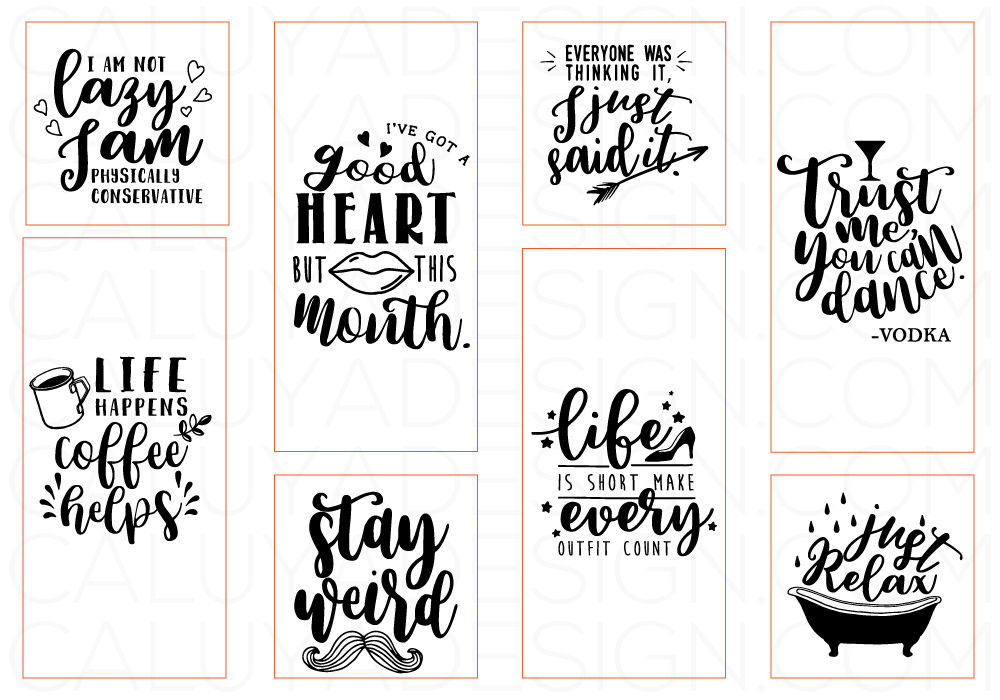 Funny Quotes Svg Cut File Bundle By Caluya Design Thehungryjpeg Com