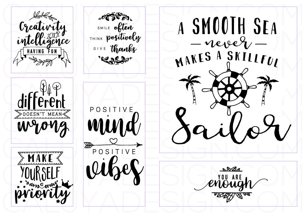 Inspirational Quote Svg Cut File Bundle By Caluya Design