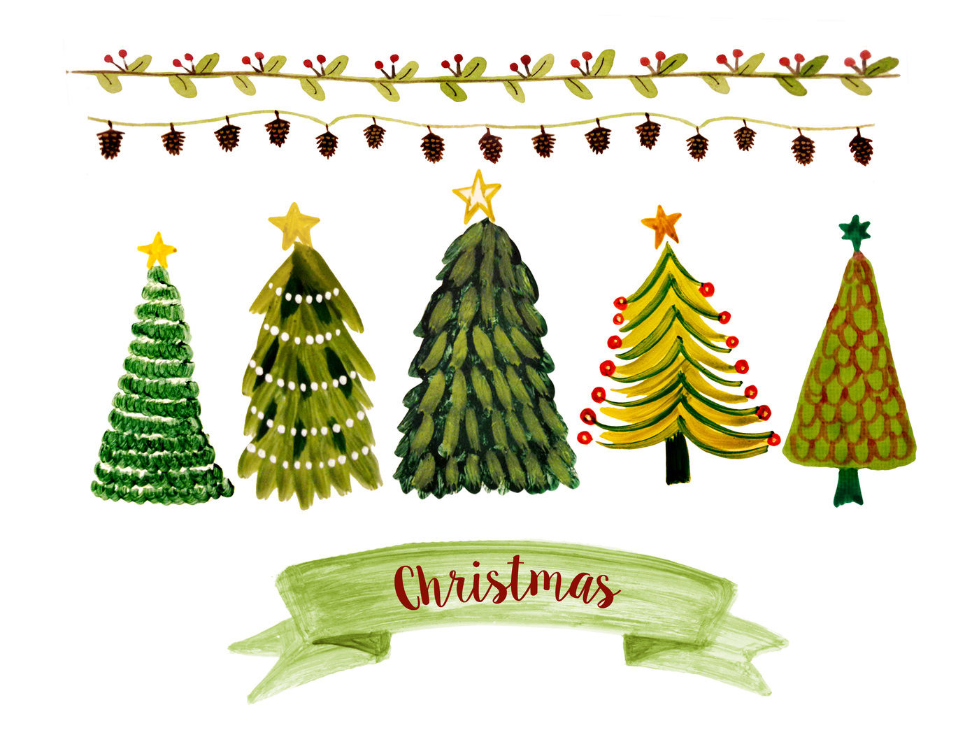 Christmas Clipart By Rosabebegraphics Thehungryjpeg Com