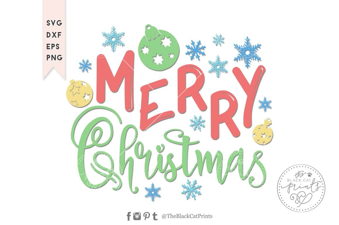 Merry Christmas Kids Svg Dxf Eps Png By Theblackcatprints