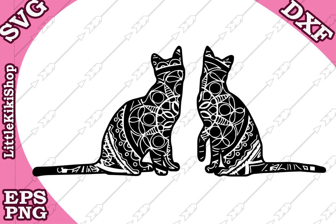 Zentangle Cat Svg Mandala Cat Svg Zentangle Animal Svg Cricut Svg