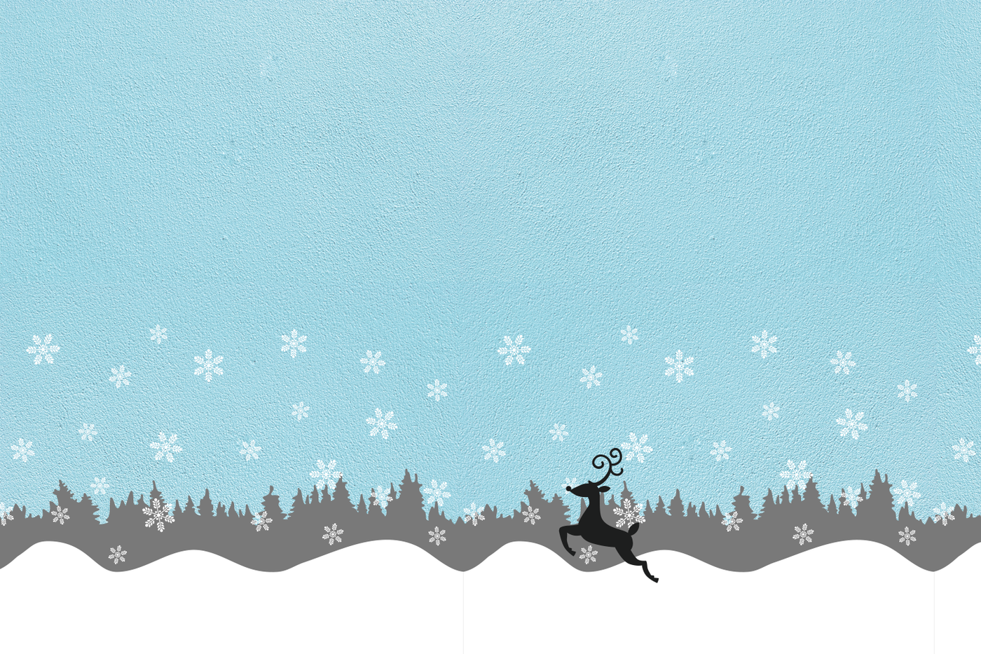 Seamless Winter Snow Scene With Deer Svg Png Dxf By Risa Rocks It Thehungryjpeg Com
