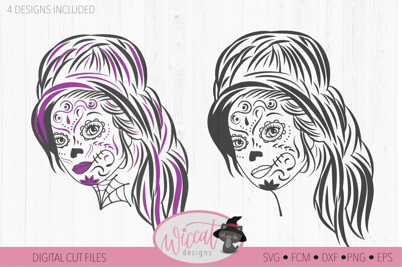 Woman Sugar Skull Svg Day Of The Dead Intricate Svg By