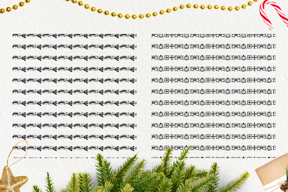 Holly Jolly Christmas And New Year Seamless Patterns By