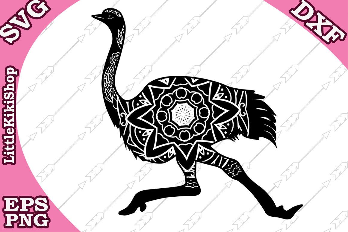 Zentangle Ostrich Svg Mandala Ostrich Svg Zentangle Animal Svg