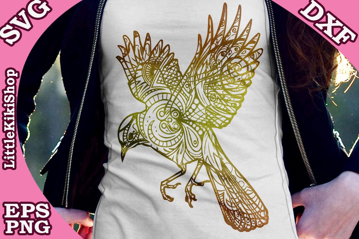 Zentangle Bird Svg Mandala Bird Svg Zentangle Animal Svg By