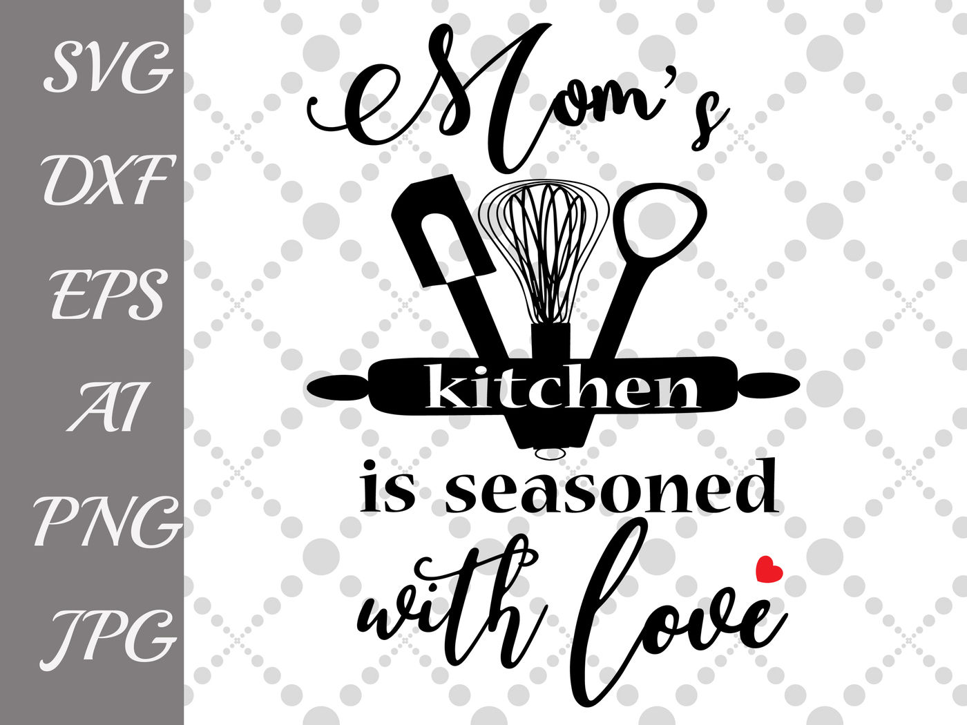 Season With Love Svg Kitchen Quote Svg Kitchen Silhouette T Shirt