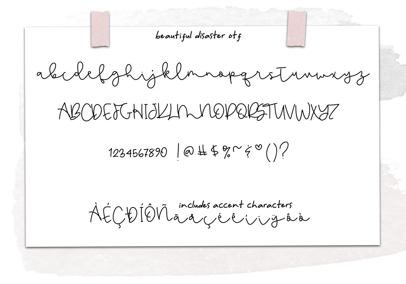 Beautiful Disaster Script Handwritten Font By Ka Designs