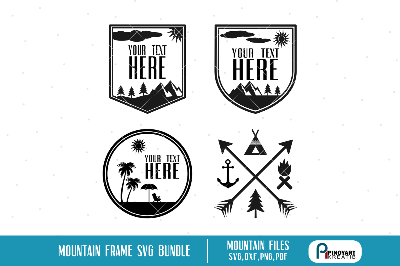 Mountain Svg Mountain Frame Svg Camping Svg Svg Files For