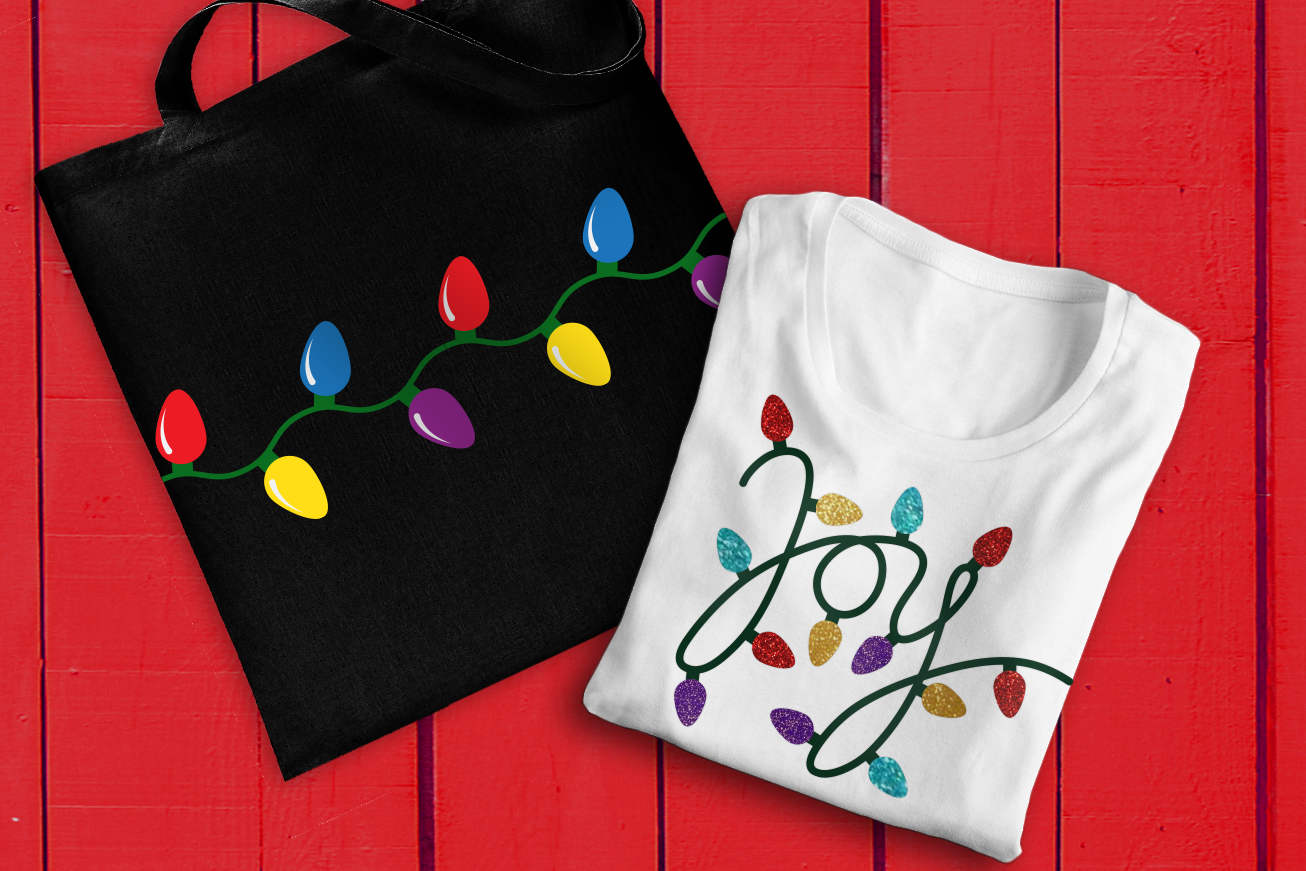 Joy Christmas Light Set Svg Png Dxf By Designed By Geeks