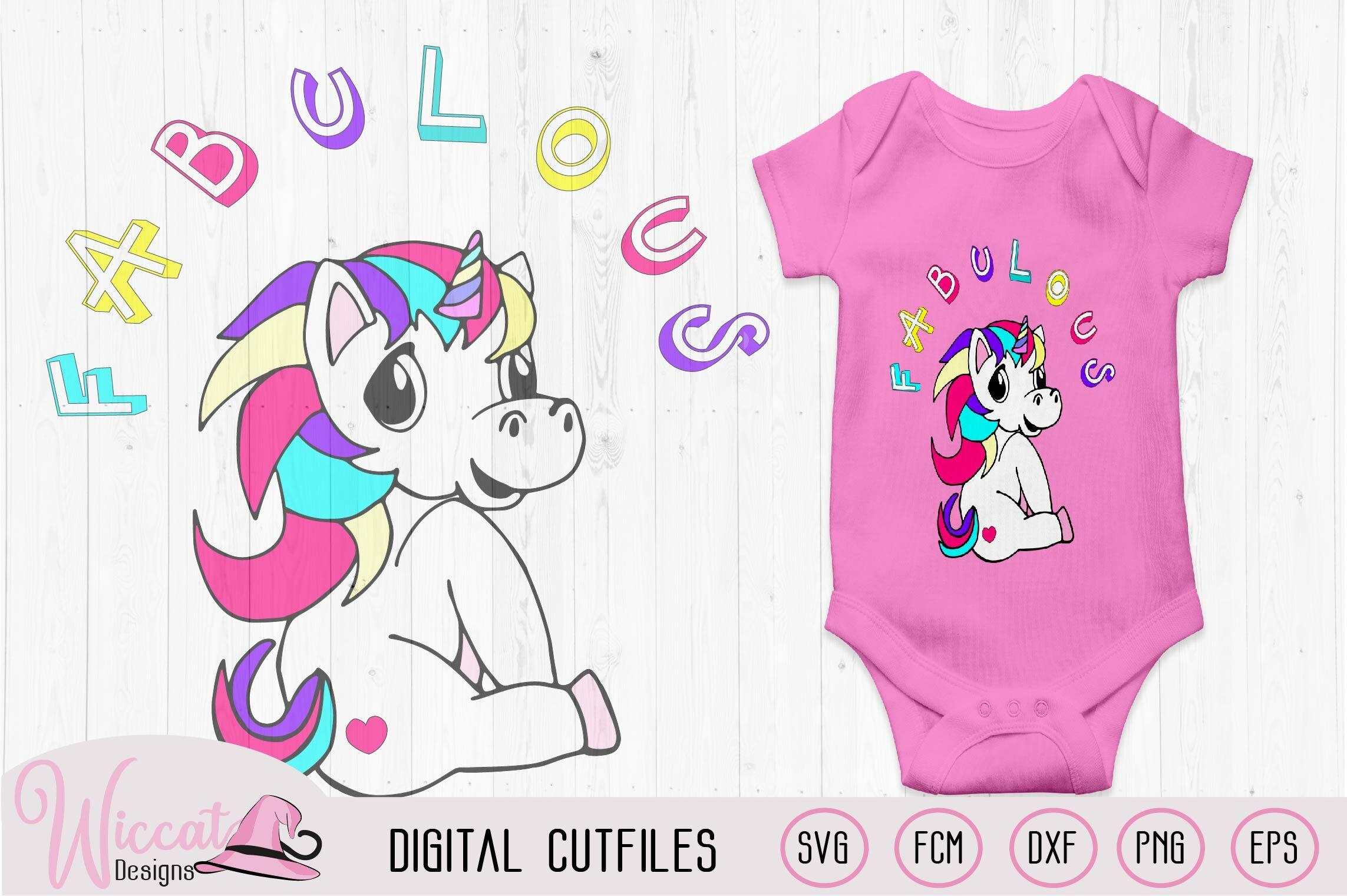 Fabulous Unicorn Svg Girls Shirt Svg Rainbow Unicorn Svg Fcm