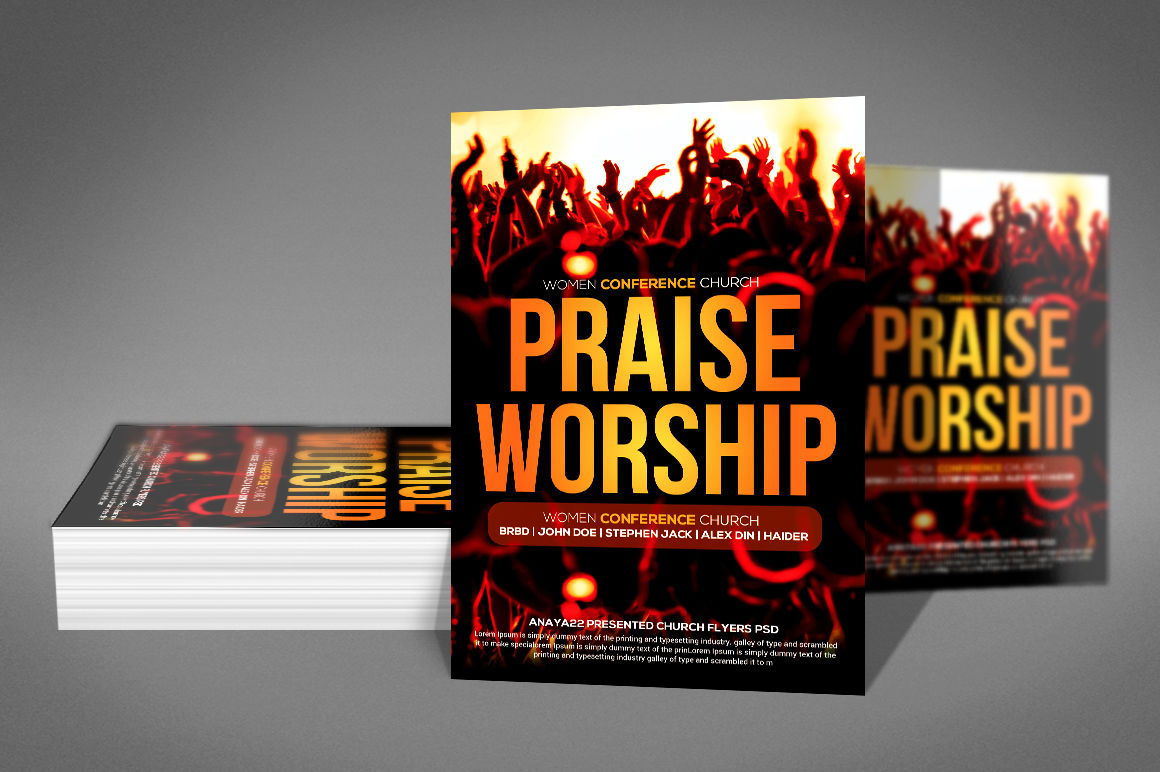 Praise And Worship Flyer By Business Templates
