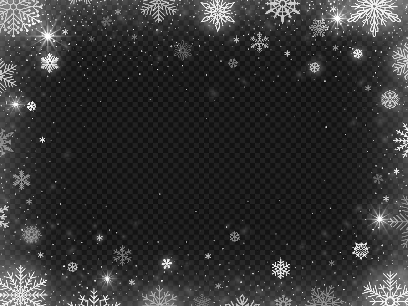 Snowed Border Frame Christmas Holiday Snow Clear Frost Blizzard