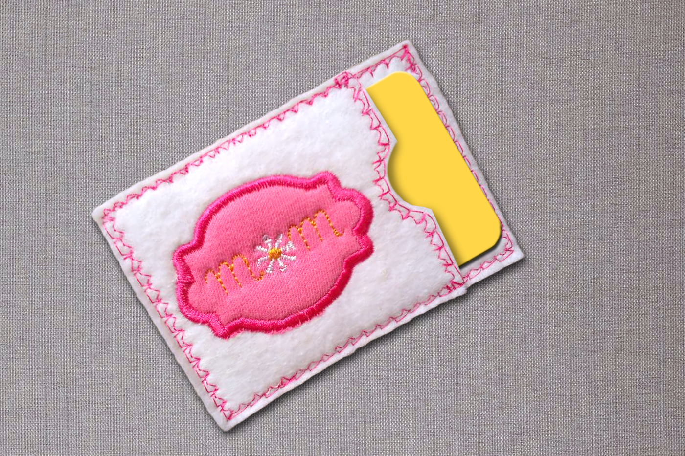 Mom Gift Card Holder Ith Applique Embroidery By Designed By