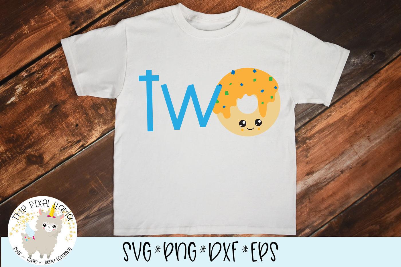 Two Donut Birthday Svg Cut File By The Pixel Llama Thehungryjpeg Com