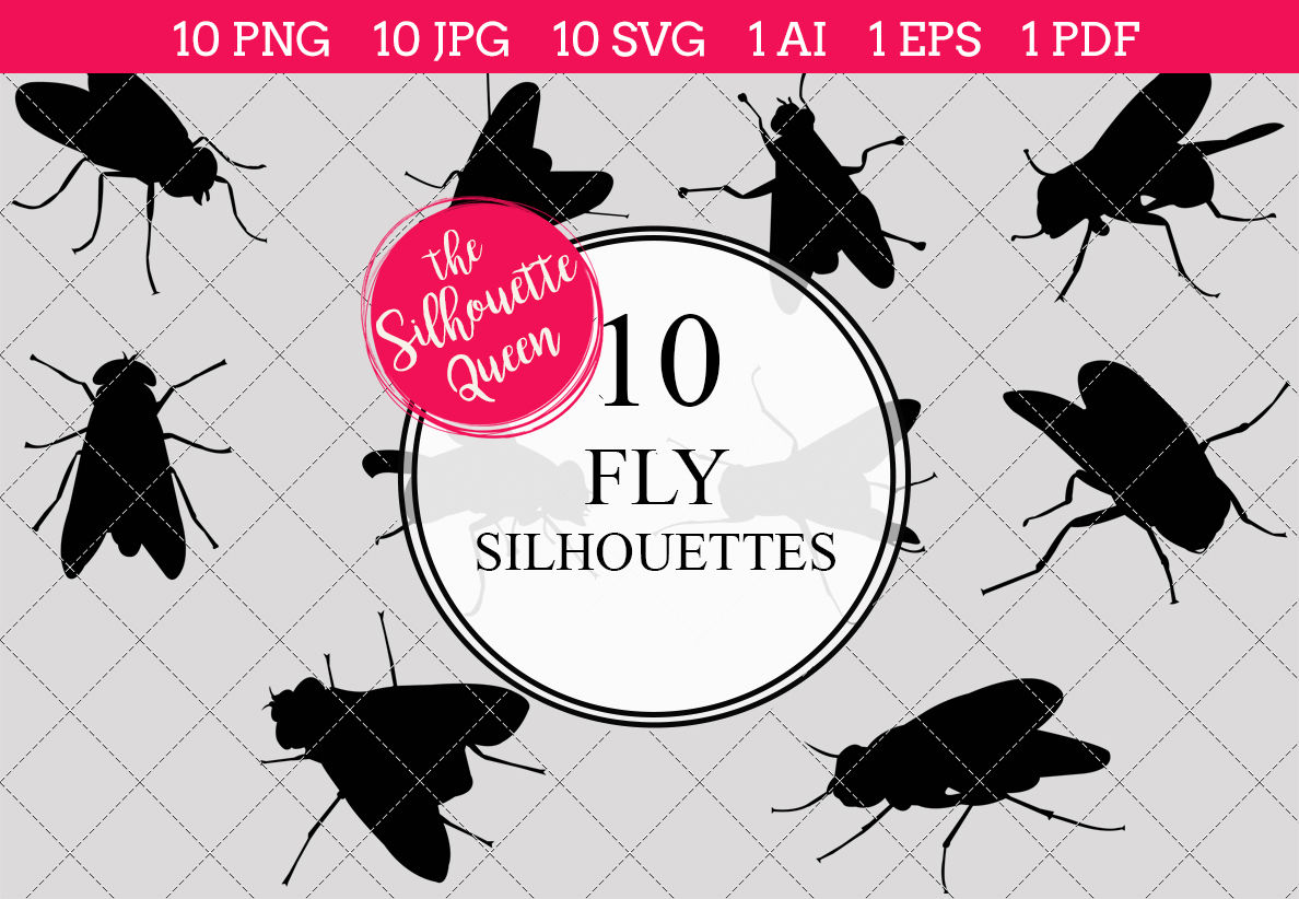 Fly Silhouettes Vectors By The Silhouette Queen Thehungryjpeg Com
