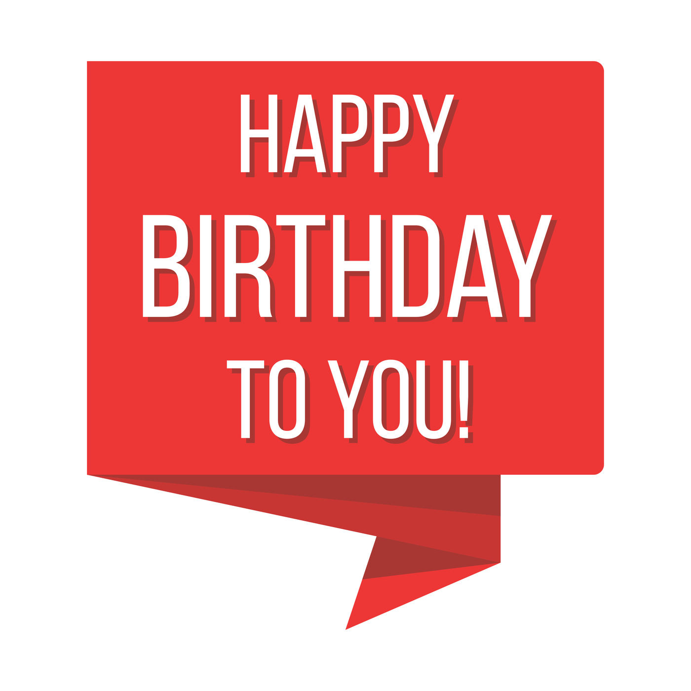 Happy Birthday Red Banner Vector Illustration By Microvector