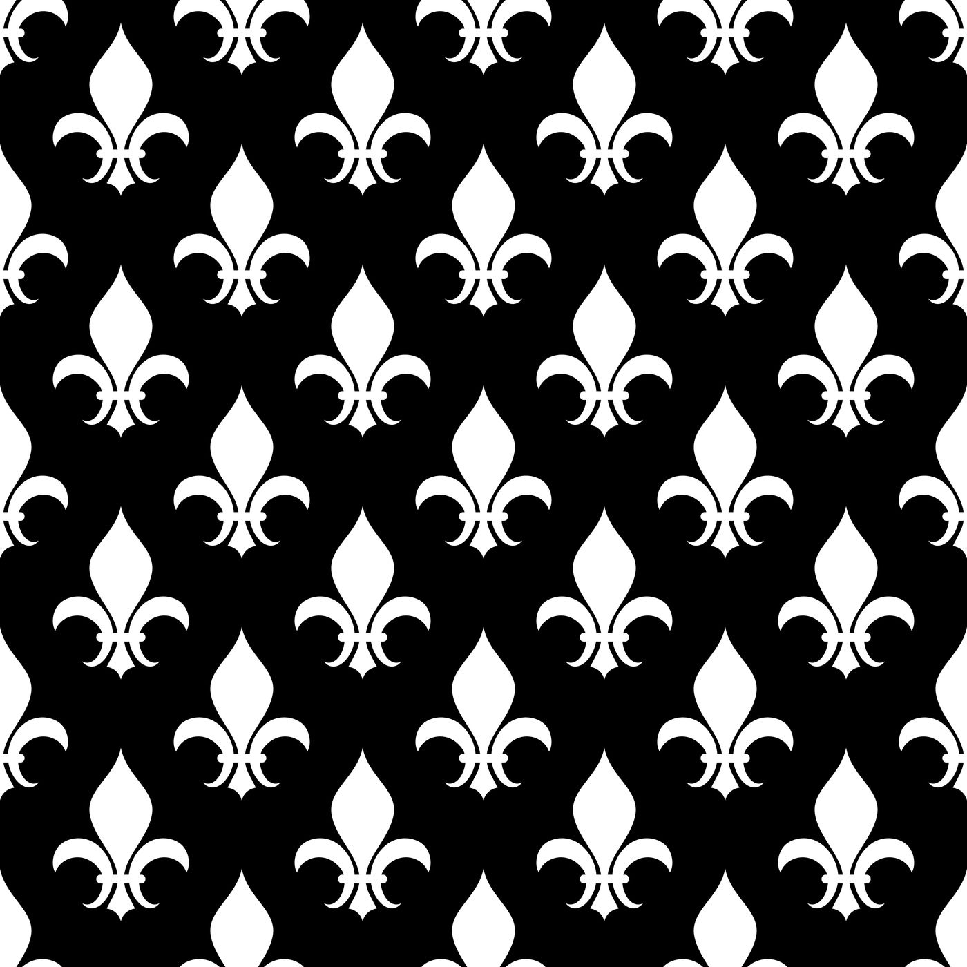Vector Fleur De Lis Seamless Pattern In Black And White By Microvector Thehungryjpeg Com