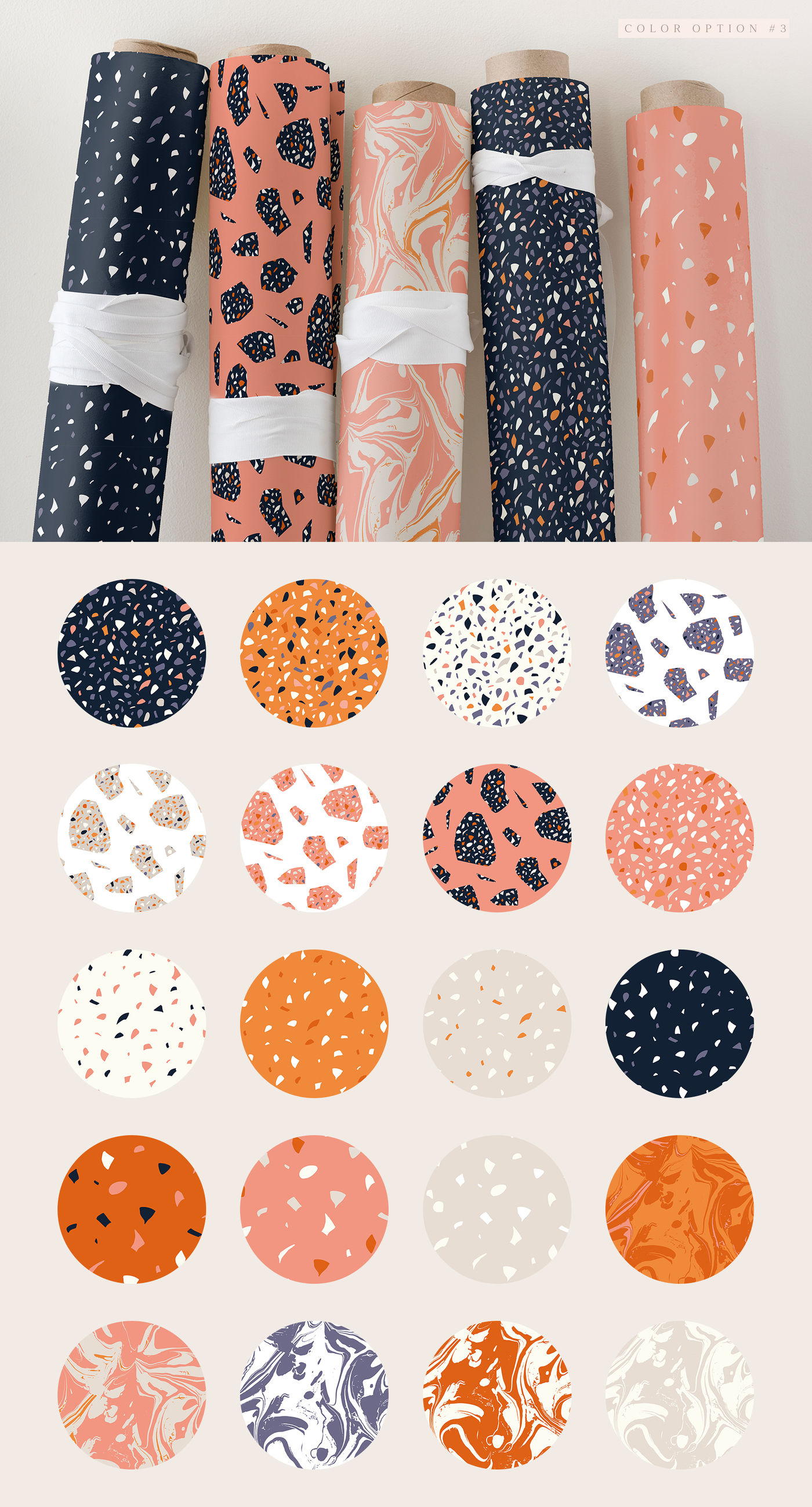 100 Terrazzo Marble Patterns By Inna Moreva Thehungryjpeg Com