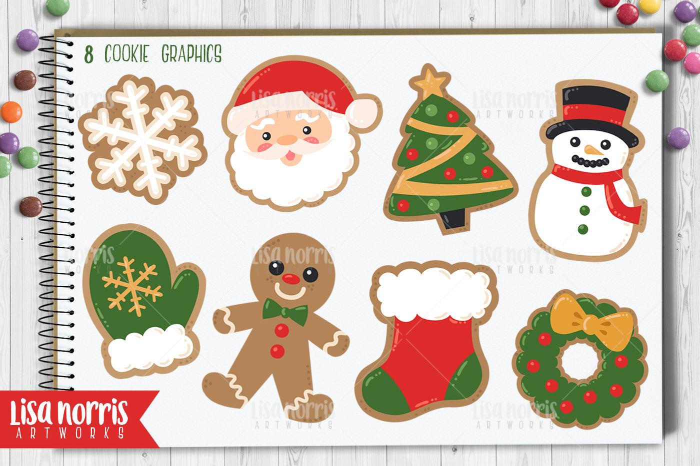 Christmas Cookies Clipart.Christmas Cookies Clip Art Graphics By Lisa Norris Artworks