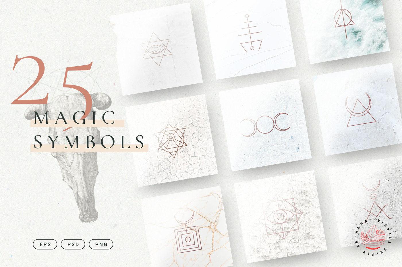 Minimalistic Magic Symbols - Occult Shapes By Nomad Visuals