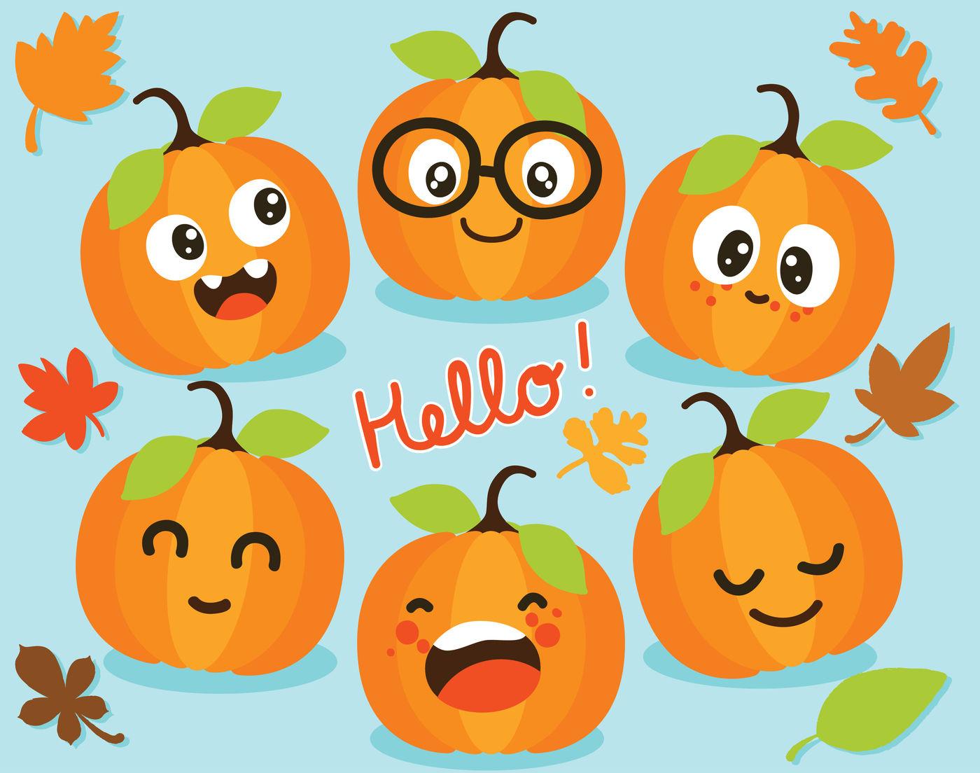 Cute Pumpkins / Fall / Autumn Vector Clipart By ...