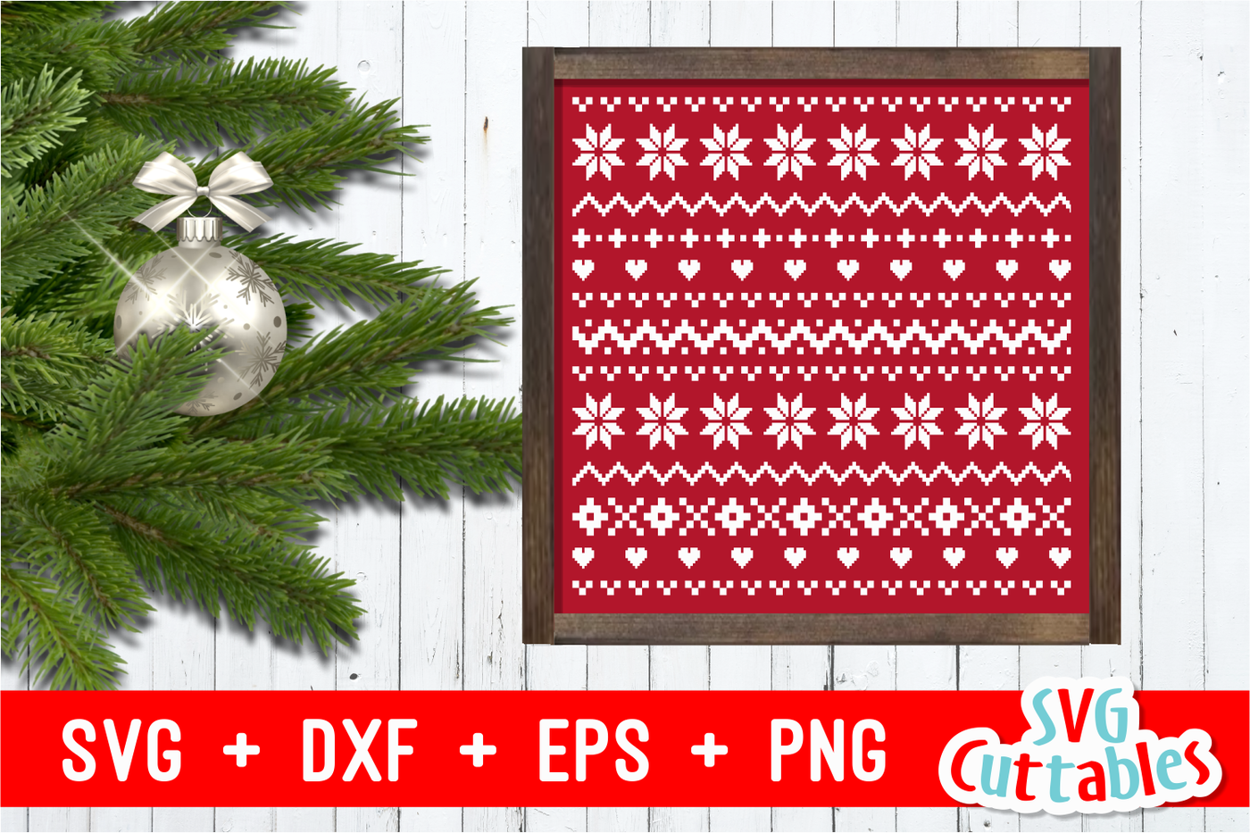 Christmas Sweater Pattern Svg Cut File By Svg Cuttables