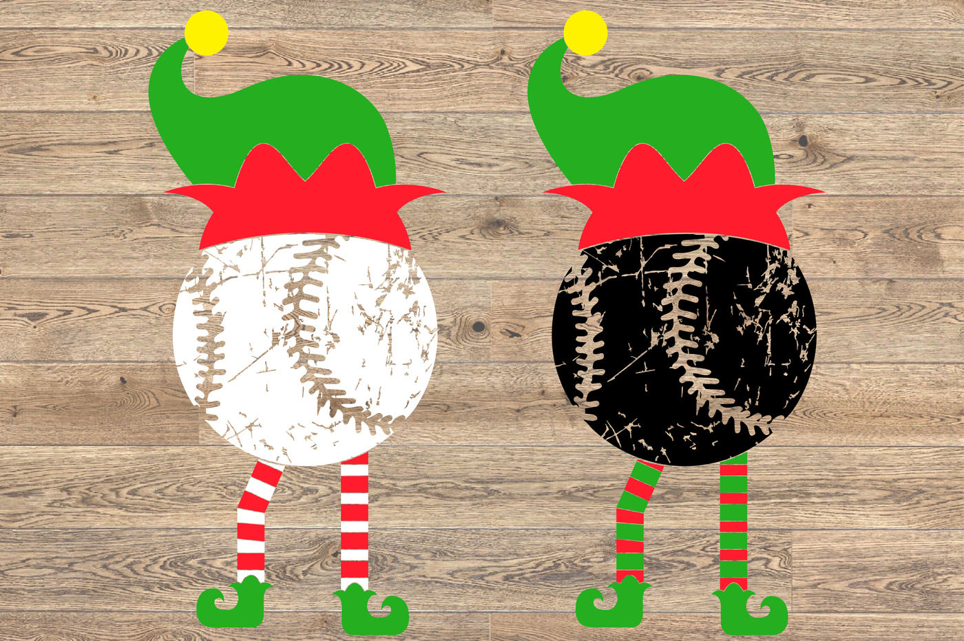 Elf Baseball Christmas Svg Santa Hat Tackle Merry Christmas Svg
