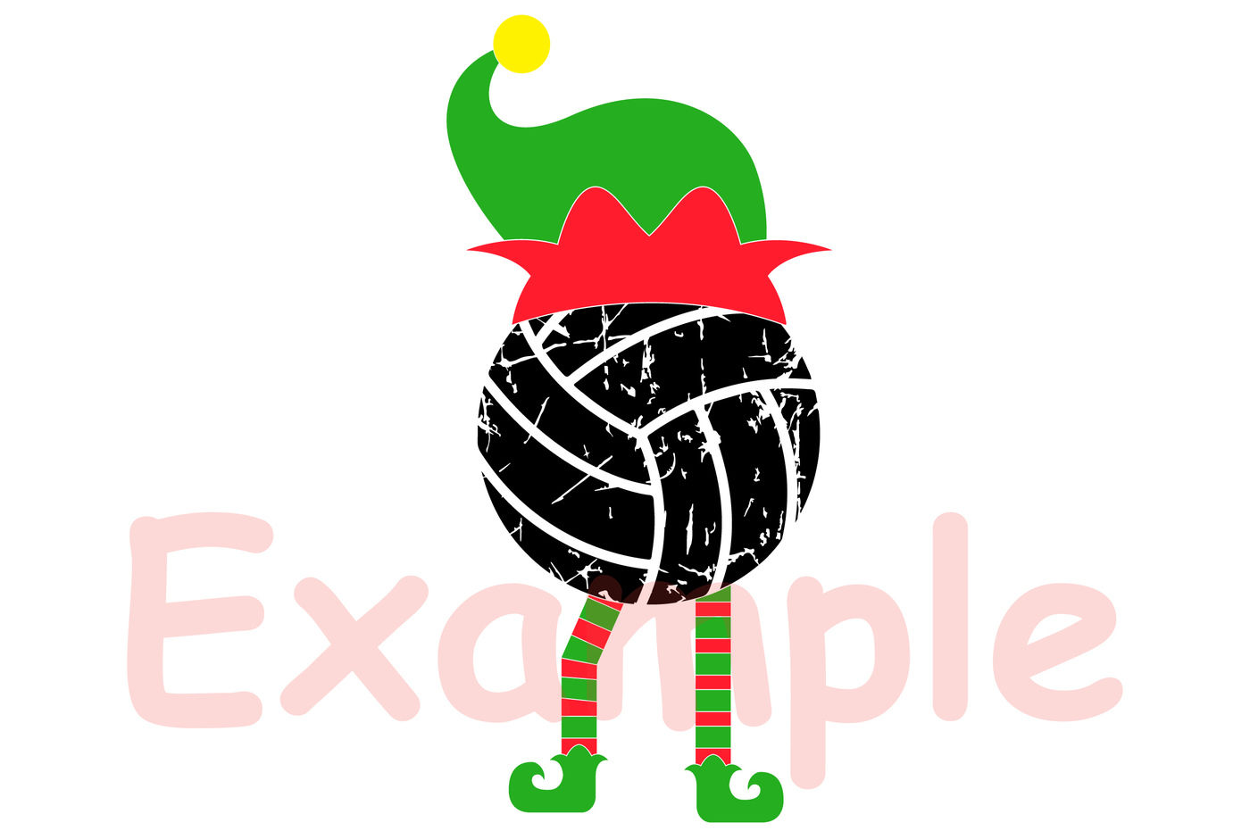 Elf Volleyball Christmas Svg Santa Hat Tackle Merry Christmas