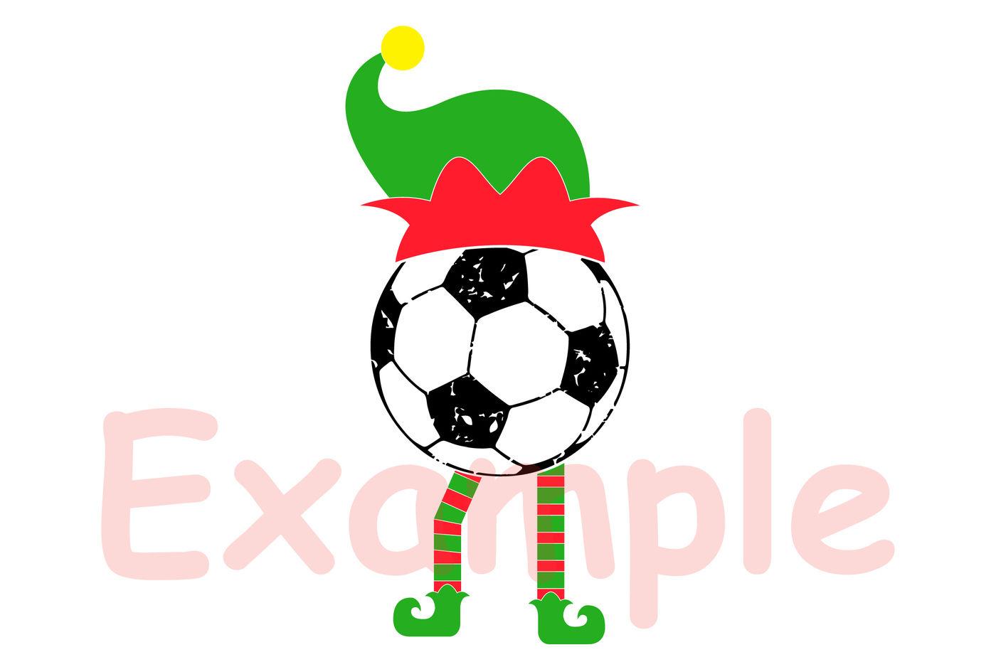 Elf Soccer Christmas Svg Santa Hat Tackle Merry Christmas Svg