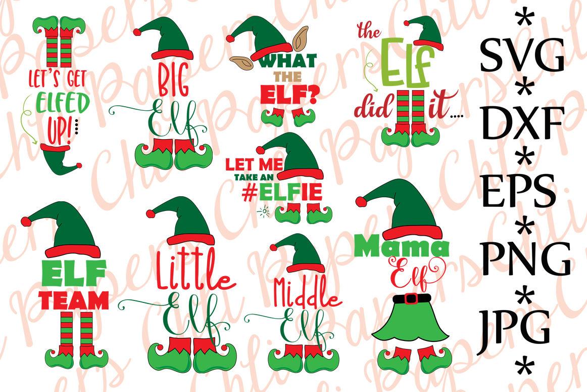 Bundle Elf Svg Christmas Bundle Svg By Chilipapers