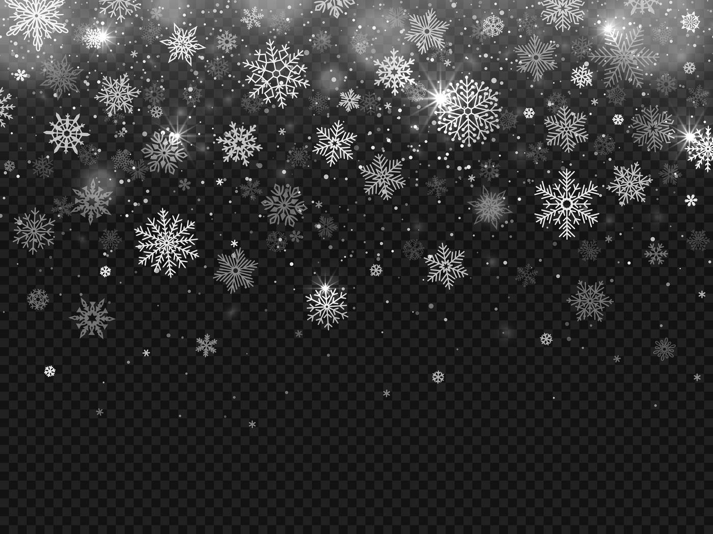Winter Falling Snow Snowflakes Fall Christmas Decorations