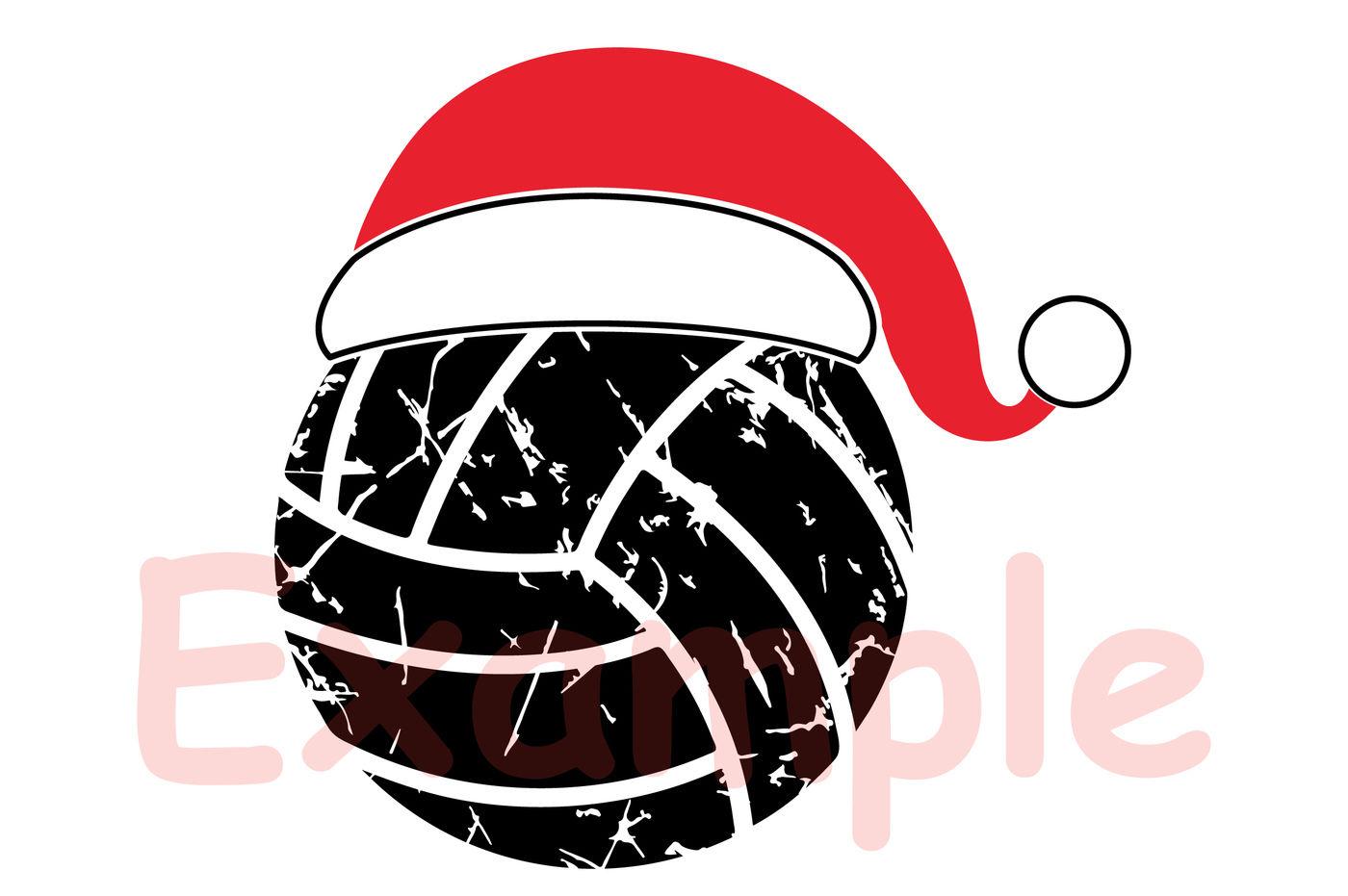 Santa Volleyball Hat Christmas Svg Elf Sweater 1041s By Hamhamart