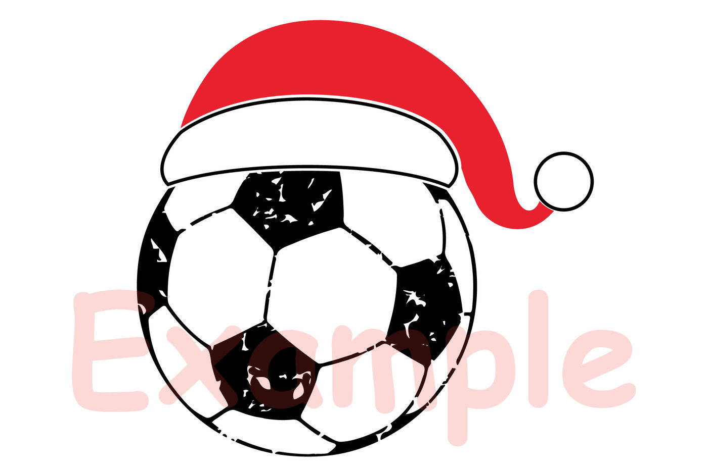 Santa Soccer Hat Christmas Svg Elf Sweater 1044s By Hamhamart