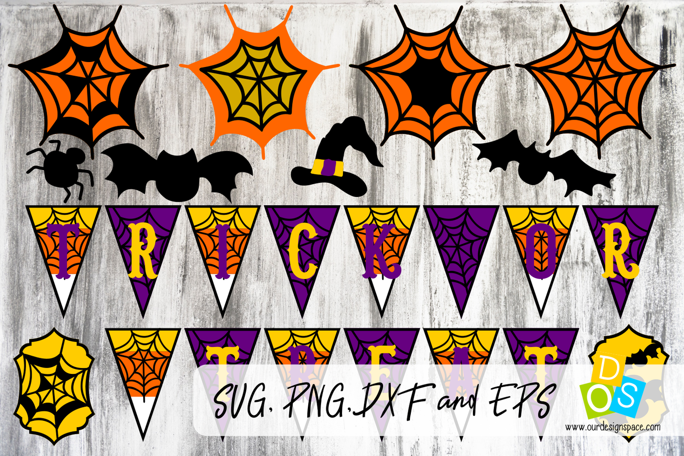 Trick Or Treat Layers Svg Banner By Our Design Space