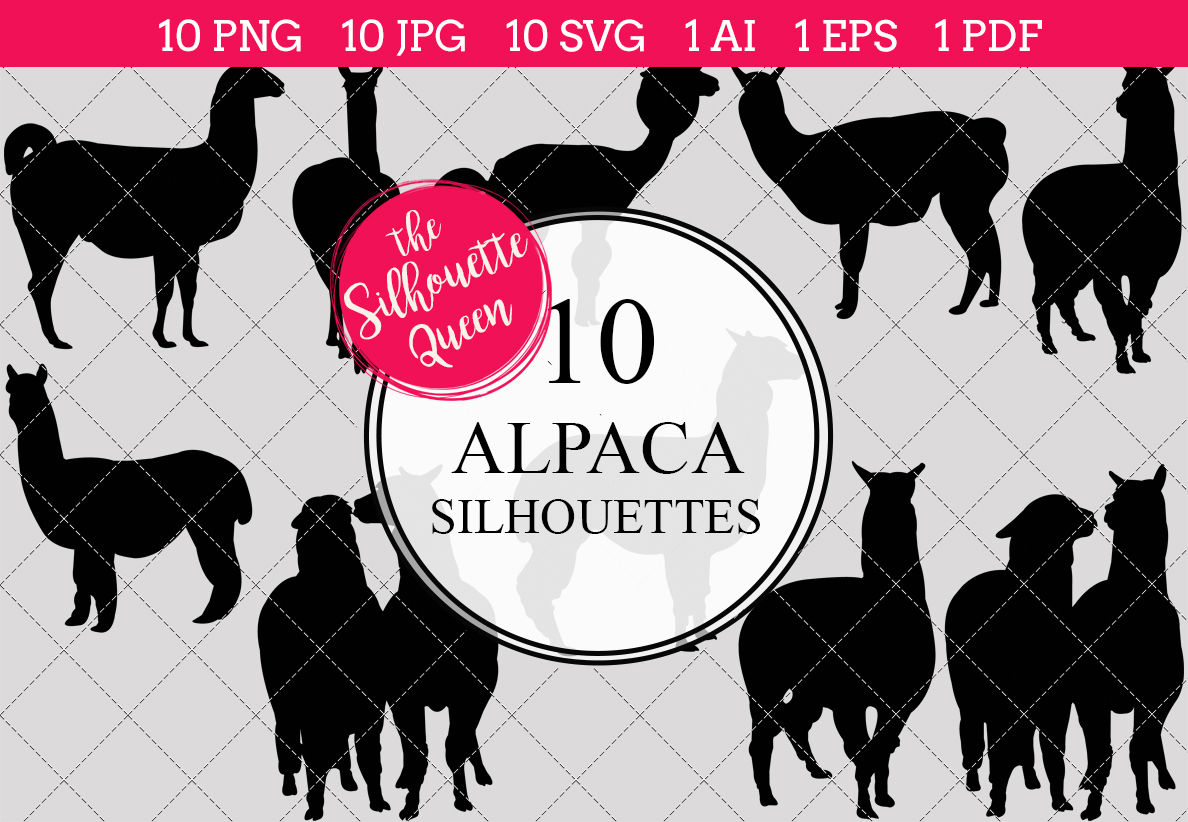 Alpaca Silhouette Vector By The Silhouette Queen Thehungryjpeg Com