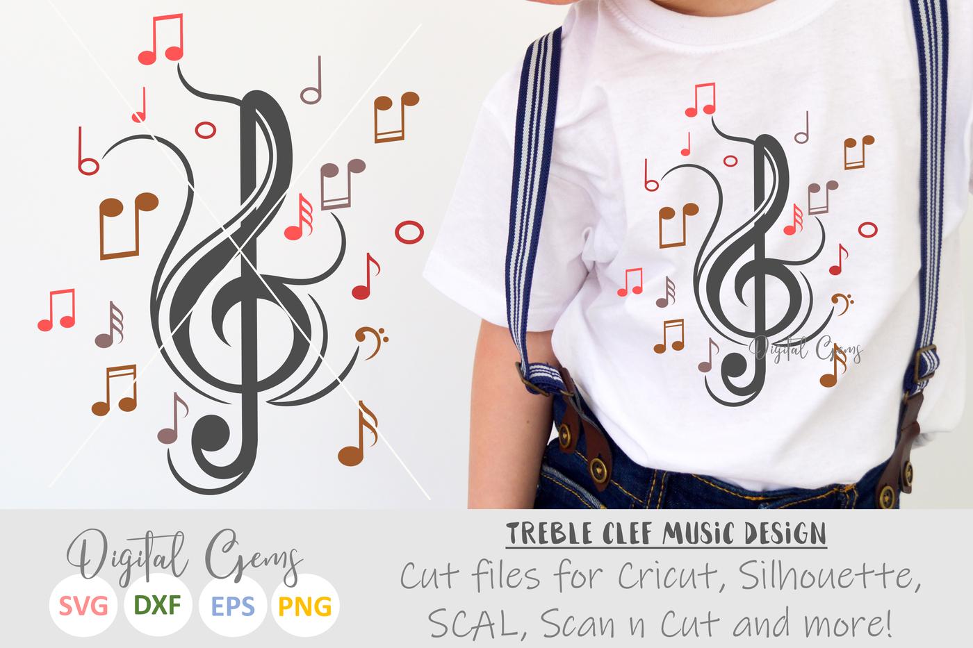 Treble Clef Music Design By Digital Gems Thehungryjpeg Com