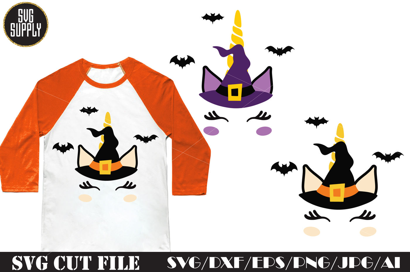 Halloween Unicorn Svg Cut File By Svgsupply Thehungryjpeg Com