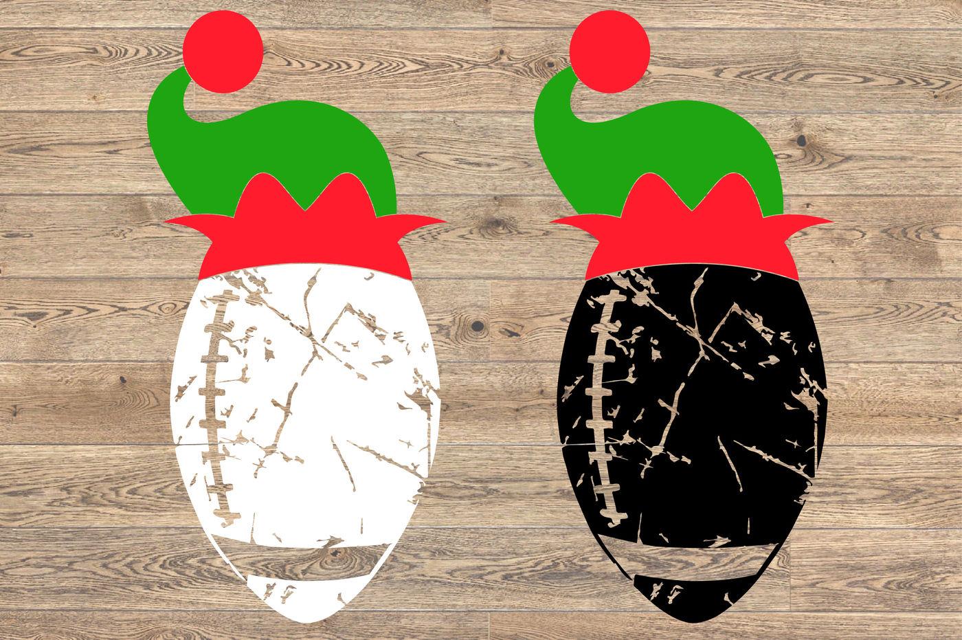 Football Christmas Hat Svg Elf Sweater 1048s By Hamhamart
