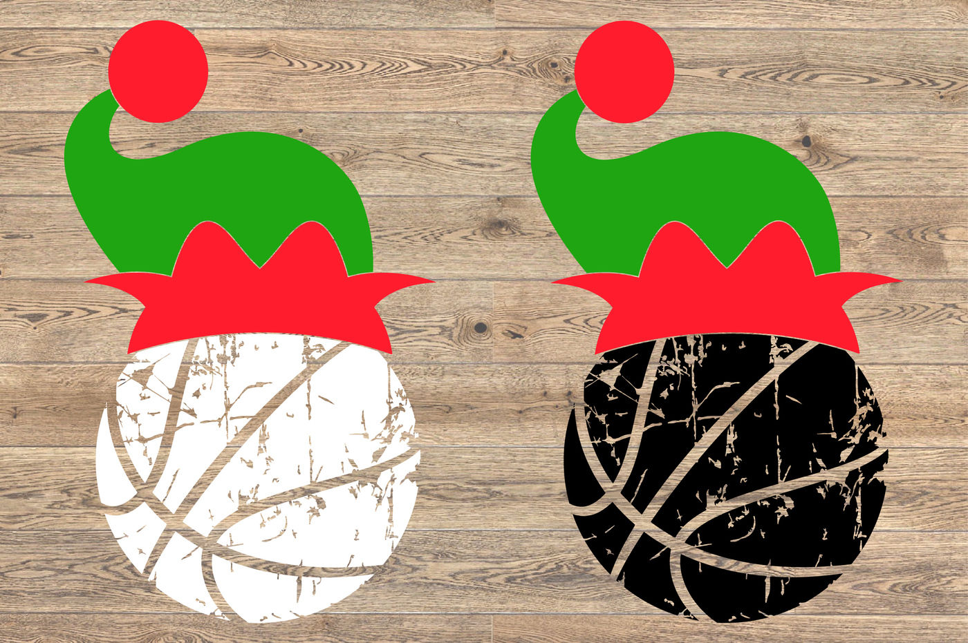 Basketball Christmas Hat Svg Elf Sweater Santa 1049s By Hamhamart