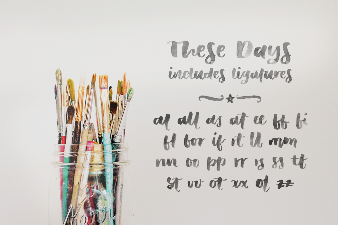 These Days A Svg Font By Ana S Fonts Thehungryjpeg Com