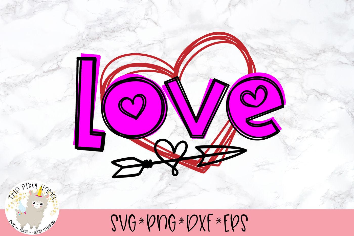 Love Heart Arrow Valentine Svg Cut File By The Pixel Llama