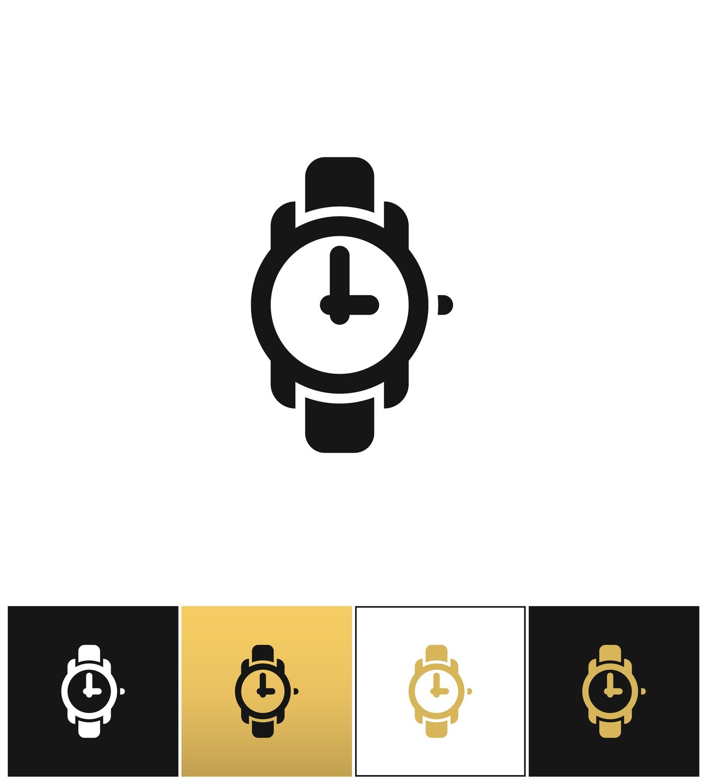 Wrist Watch Sign Or Wristwatch Vector Icon By Microvector