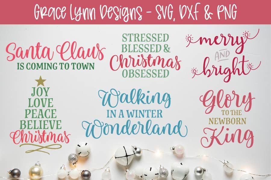 Christmas Cut File Bundle Svg Dxf Png By Grace Lynn Designs